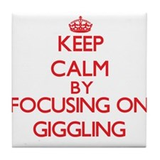 Keep Calm by focusing on Giggling Tile Coaster