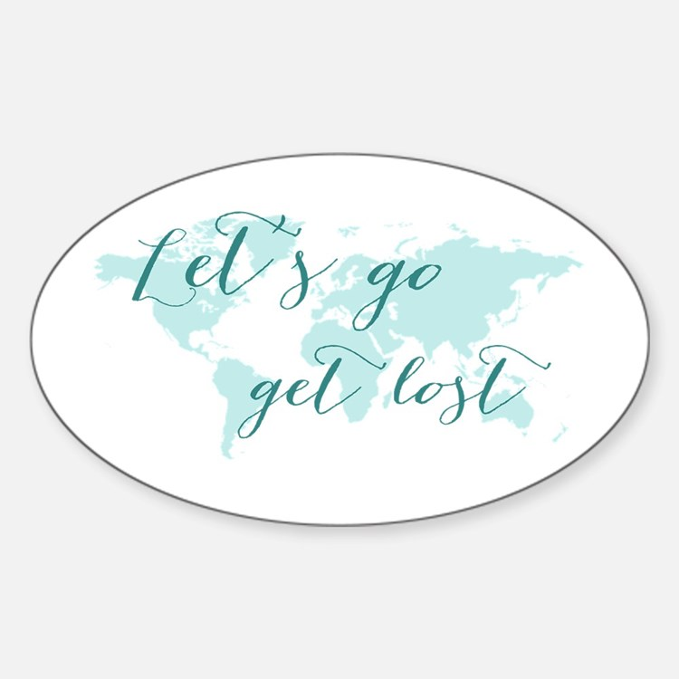 Let's go get lost world map Decal