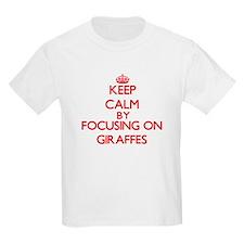 Keep Calm by focusing on Giraffes T-Shirt