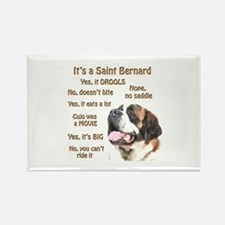 Saint Bernard FAQ Rectangle Magnet