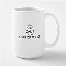 Keep calm I'm the Chief Of Police Mugs