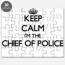 Keep calm I'm the Chief Of Police Puzzle