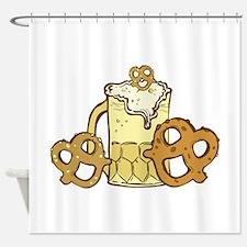 Beer & Pretzels Shower Curtain