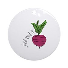 Just Beet It Ornament (Round)