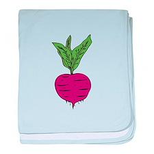 Beet baby blanket