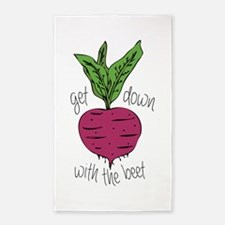 With The Beet 3'x5' Area Rug