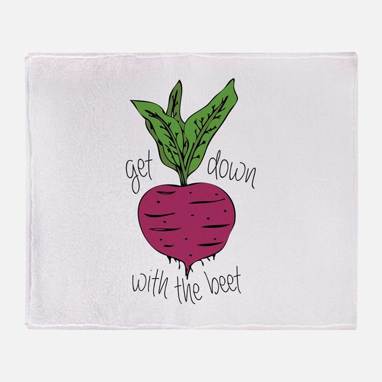 With The Beet Throw Blanket