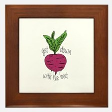 With The Beet Framed Tile
