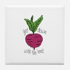 With The Beet Tile Coaster