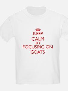 Keep Calm by focusing on Goats T-Shirt
