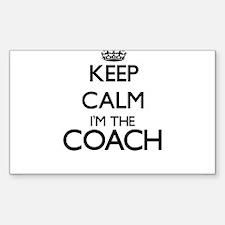 Keep calm I'm the Coach Decal