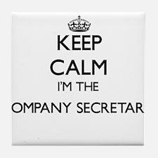 Keep calm I'm the Company Secretary Tile Coaster