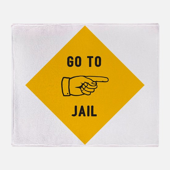 Go To Jail Throw Blanket