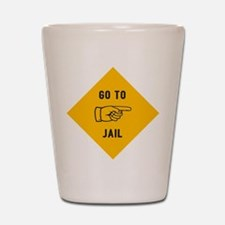 Go To Jail Shot Glass