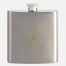 no color - for dark apparel Flask