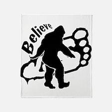 Bigfoot Believe Throw Blanket