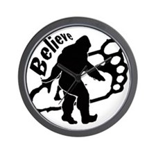 Bigfoot Believe Wall Clock