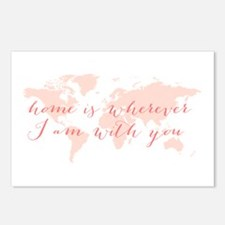 Home is wherever I am with you Postcards (Package