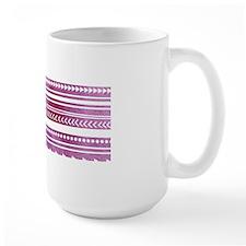 Purple Tribal Watercolor Vintage Stripe Mug
