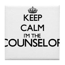 Keep calm I'm the Counselor Tile Coaster