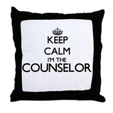 Keep calm I'm the Counselor Throw Pillow
