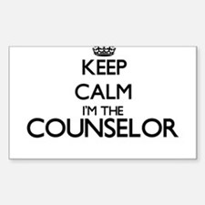 Keep calm I'm the Counselor Decal