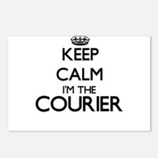 Keep calm I'm the Courier Postcards (Package of 8)