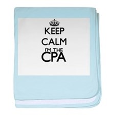 Keep calm I'm the Cpa baby blanket