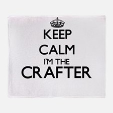 Keep calm I'm the Crafter Throw Blanket