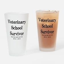 Veterinary School Survivor Drinking Glass
