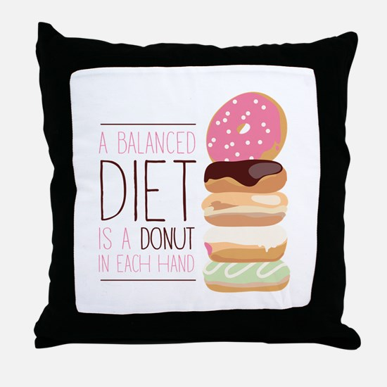 Balanced Diet Throw Pillow