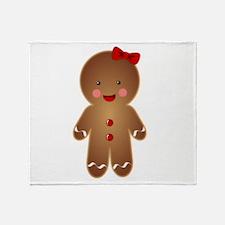 Gingerbread GIRL Throw Blanket