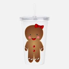 Gingerbread GIRL Acrylic Double-wall Tumbler