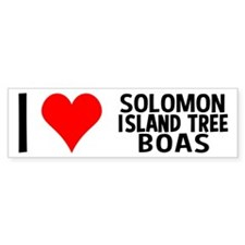 I Love Solomon Island Tree Boas Bumper Bumper Sticker