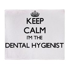 Keep calm I'm the Dental Hygienist Throw Blanket
