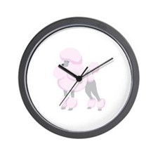 Pink Poodle Wall Clock
