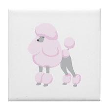 Pink Poodle Tile Coaster