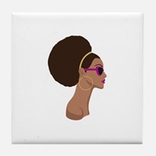 Afro Style Tile Coaster