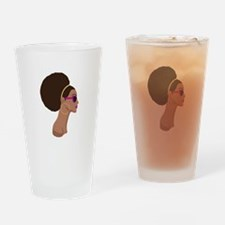 Afro Style Drinking Glass