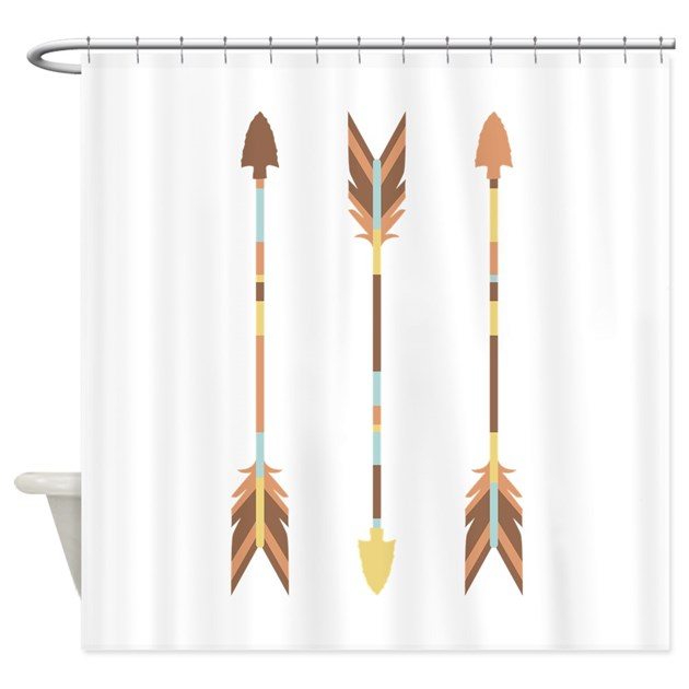 Indian Arrows Shower Curtain By Hopscotch14
