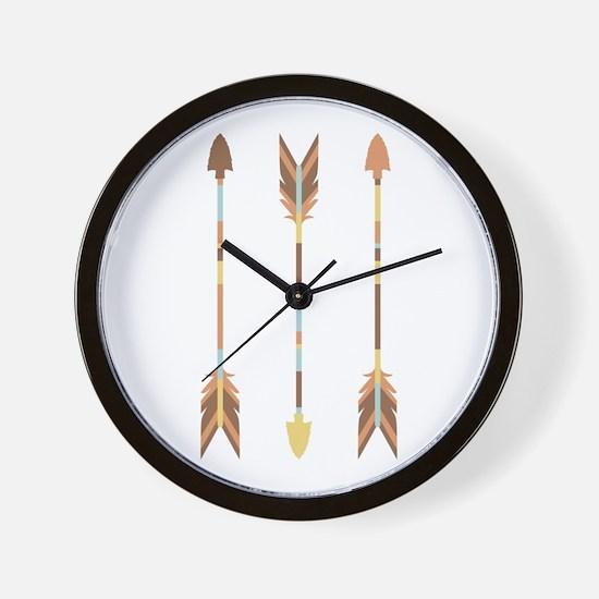 Indian Arrows Wall Clock