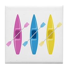 Kayaks Tile Coaster