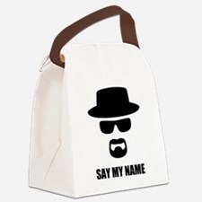 Custom Text Heisenberg Logo Canvas Lunch Bag