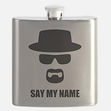 Custom Text Heisenberg Logo Flask