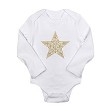 Beautiful Gold Star Body Suit