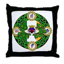 Poly Claddagh Brooch Throw Pillow