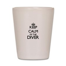 Keep calm I'm the Diver Shot Glass