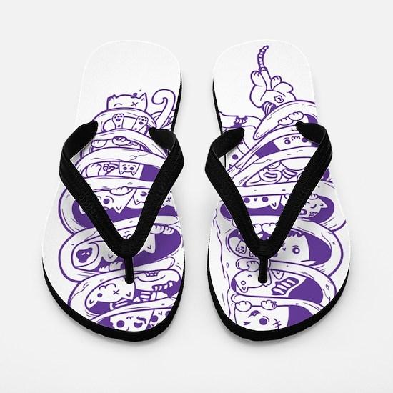 Cool Kitteh Flip Flops