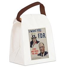 Funny Roosevelt Canvas Lunch Bag