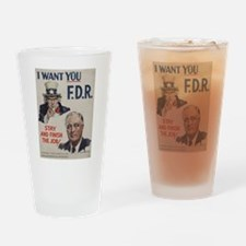 Unique Fdr Drinking Glass